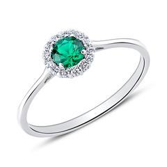 Ring für Damen aus 9K Weißgold mit Zirkonia