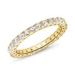 Eternity Ring For Ladies In 8K Gold With Zirconia