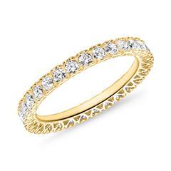 Ladies Ring In 8 Carat Gold With Zirconia