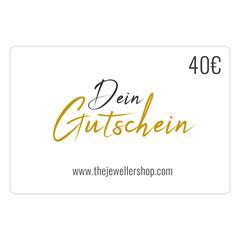 Geschenkgutschein 40,- EUR mit persönlicher Grußkarte