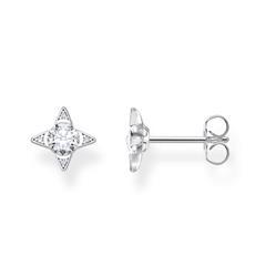 Damen Ohrstecker Weiße Steine aus 925er Silber