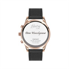 Henry London Unisexuhr Finchley schwarz HL39-CS-0122