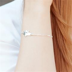 Prinzessin Lillifee Mädchen Einhorn Pferd Armband Gravur Name Datum Silber 925