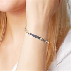 5,5mm 925 Silber Armband inkl. Gravur ID0055