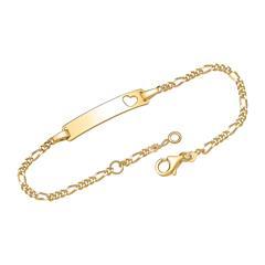 925er Silber Armband vergoldet Herz Gravur