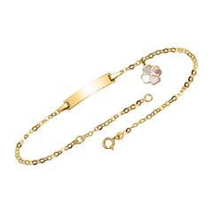 ID Armband aus 14-karätigem Gold mit Kleeblatt