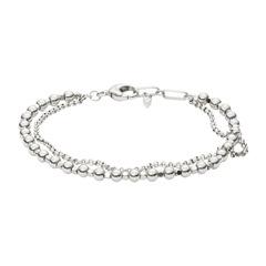 Edelstahl Armband silberne Perlen