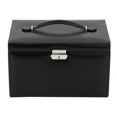 Abschließbarer Schmuckkoffer schwarz Classico