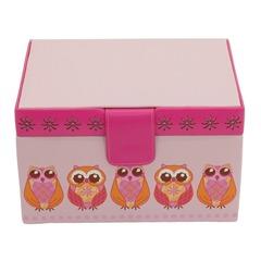 Bicolorer Schmuckkasten Owlivia Eulen rosa pink