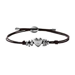 Leder-Armband mit Herz
