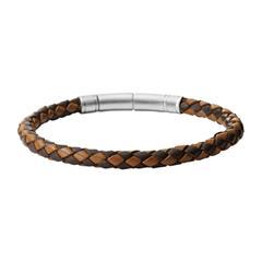 Armband für Herren aus schwarzem und braunem Leder