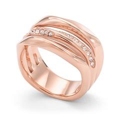 Edelstahl Ring Glassteine