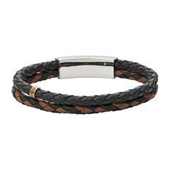 Vintage Casual Armband für Herren aus Leder gravierbar
