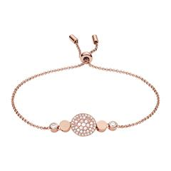 Damen Armband Disc Mother of Pearl Edelstahl rosé