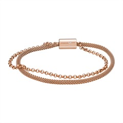 Armband für Damen aus rosévergoldetem Edelstahl
