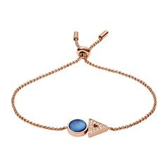 Damen Armband aus Edelstahl rosé Perlmutt blau