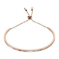 Damen Armband aus rosévergoldetem Edelstahl Perlmutt