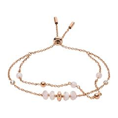 Armband Duo für Damen aus rosévergoldetem Edelstahl