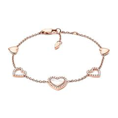 Stainless Steel Bracelet Hearts To You, Rosé