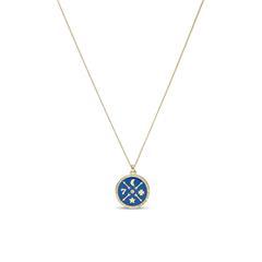 Damenkette Little Fortunes aus Edelstahl, vergoldet
