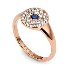 Vintage Glitz Ring für Damen aus Edelstahl, rosé