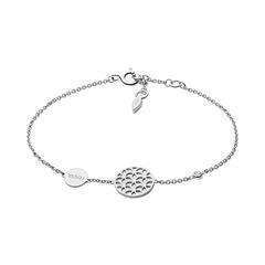 Florales Armband für Damen aus 925er Silber Perlmutt