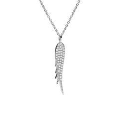 Halskette Flügel für Damen aus 925er Silber, Zirkonia