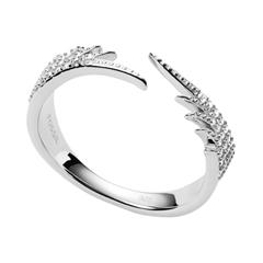 Flügel Ring für Damen aus Sterlingsilber, Zirkonia