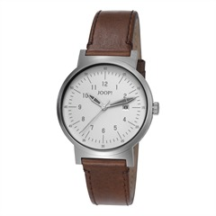 Uhr Traveller Silver / Brown