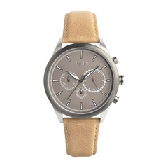 Uhr Chrono Silver Tobacco Brown Metal