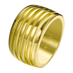 JP-Stripes Ring vergoldet 18 Karat