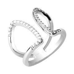 Ring für Damen mit Zirkoniabesatz