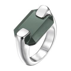 Joop Ring silber mit schwarzem Stein JPRG00026A