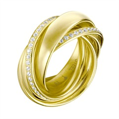 Stylisher Joop twisted Ring mit Zirkonia JPRG10631B