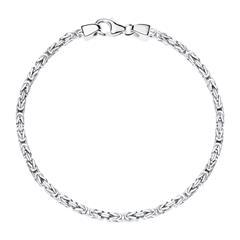 Sterlingsilber Königsarmband für Herren, 2,5 mm