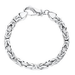 5,5 mm Königsarmband für Herren aus 925er Silber