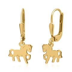 Ohrhänger Kinder 333er Gold Pferde