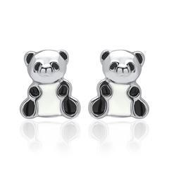 925er Silber Kinderohrstecker Pandabär