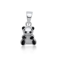 925 Silber Anhänger für Kinder Panda