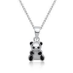 Pandakette für Kinder aus 925 Sterlingsilber