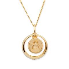 333er Gold Taufkette Zirkonia Engel