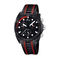Herrenchronograph rot schwarz