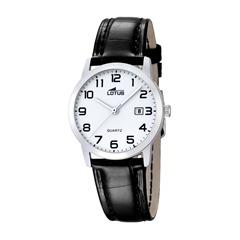 Damenuhr Armbanduhr Leder schwarz
