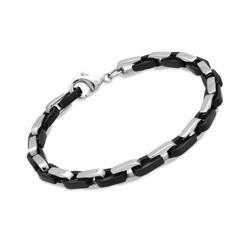 Armband Edelstahl Ionic Black Plating