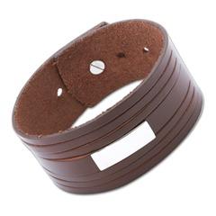 Leder Armband Gravurplatte verstellbar 14,5-19,5cm