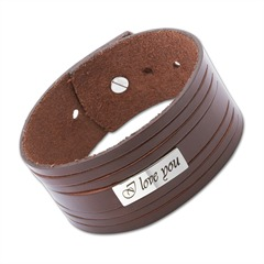 Leder Armband Lasergravur verstellbar 14,5-19,5cm