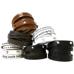 Armband Echtleder inklusive Lasergravur