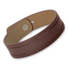 Armband mit Schlitzen Kunstleder braun