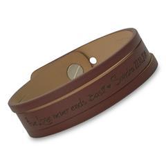 Armband mit Schlitzen Echtleder gravierbar braun