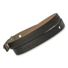 Gravierbares Wickel-Armband Echtleder schwarz